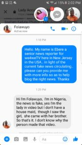 We4We Reports EXCLUSIVE: WOMAN IN THE RECENT VIRAL VIDEO SAYS SHE DIDN'T KNOW THE GIRL SEEN IN THE VIDEO AND SPECULATED TO BE HER HOUSE MAID