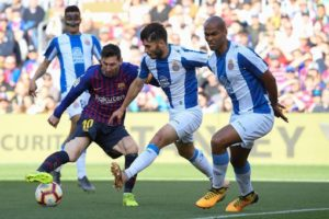 Messi nets brace against Espanyol as Barcelona go 10 points clear