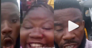 "Nigerian filmmaker demands justice after police officers allegedly brutalized him and his pregnant passenger ""because of bribe"" (Videos)"