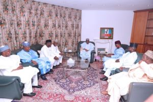 Buhari, APC Governors, others meet in Aso Rock
