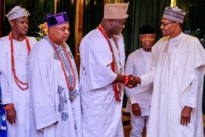 Buhari's speech at a meeting with South-West Obas