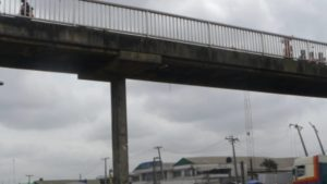 Death averted as pedestrian bridge collapses in Lagos