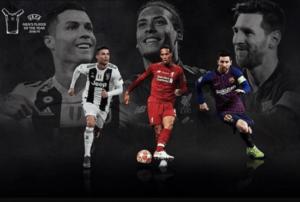 Van Dijk battles Messi, Ronaldo for UEFA award