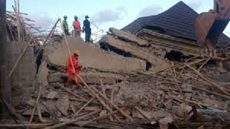 One injured as four-storey building collapses in Enugu