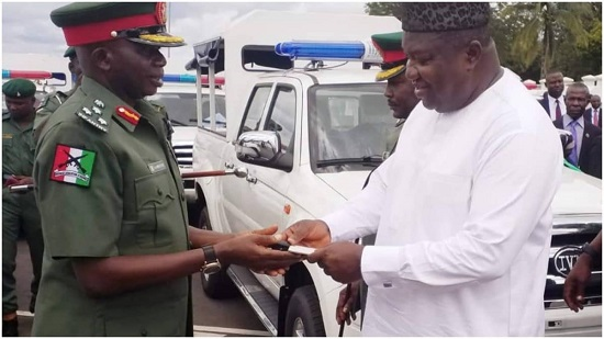 Ugwuanyi donates security vehicles to Army, Civil Defence, others
