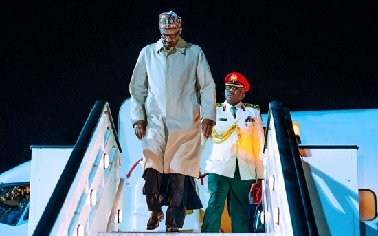 Buhari arrives in London, returns to Nigeria Thursday